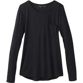 Prana Foundation LS Crew Neck Top Women black